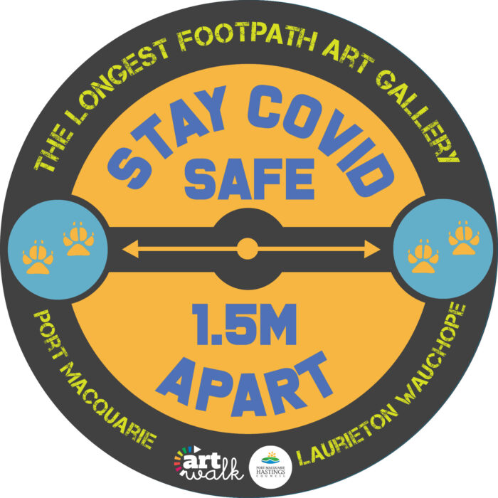 Covid Safe Sticker 70cm round